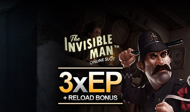Potrojone EnergyPoints na slocie The Invisible Man i reload bonus 50% do 400 PLN do 21 grudnia w EnergyCasino